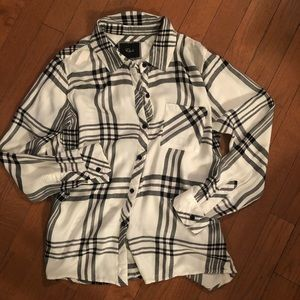 Rails Black and White Plaid Button Down